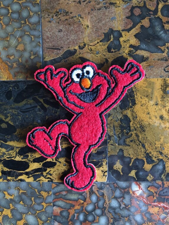 Sew On Patch Sesame street Elmo Embroidered Iron On