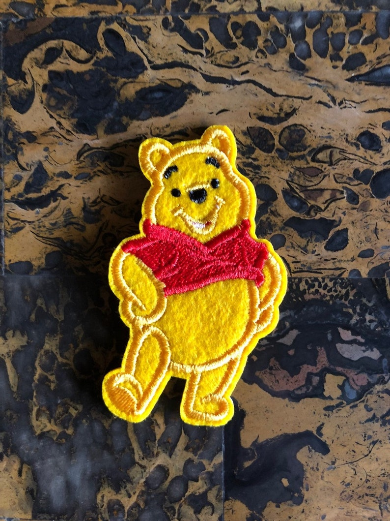 1 Winnie the Pooh and Friends Embroidered Iron On Sew On Patch 3
