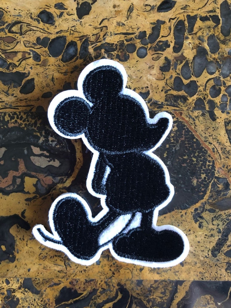 "2 Mickey Mouse Magic Hands Disney Iron On Sew On Patch 3.25/"" L x 3.75/"" W Craft"