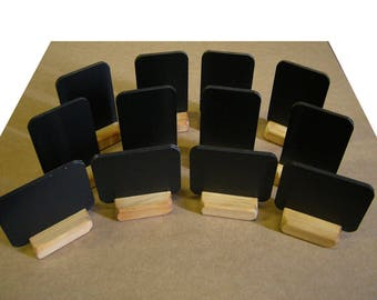 Chalkboard blackboard table top A7 - quantity 12 table top advertising