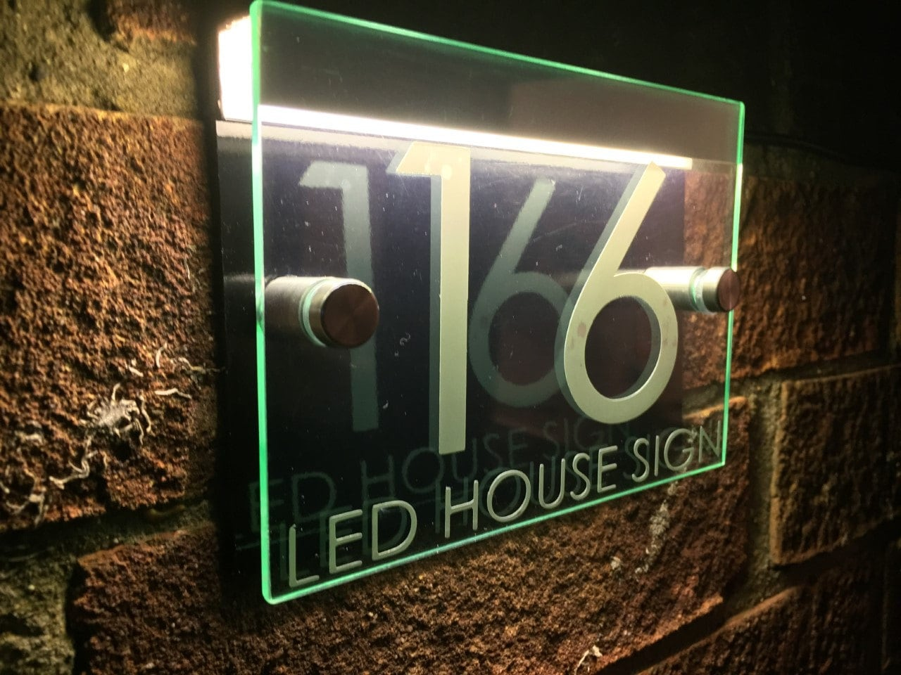 Modern House Sign Plaque Door Number Street Glass Acrylic Etsy
