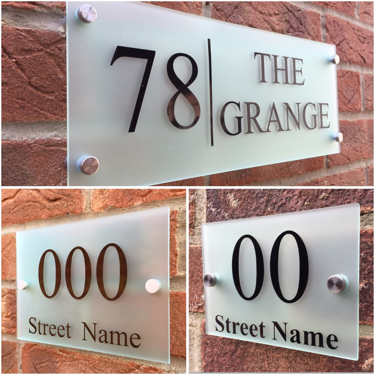 Modern house sign plaque door number street house name frosted glass acrylic xl modern house sign plaque door number street house name frosted glass