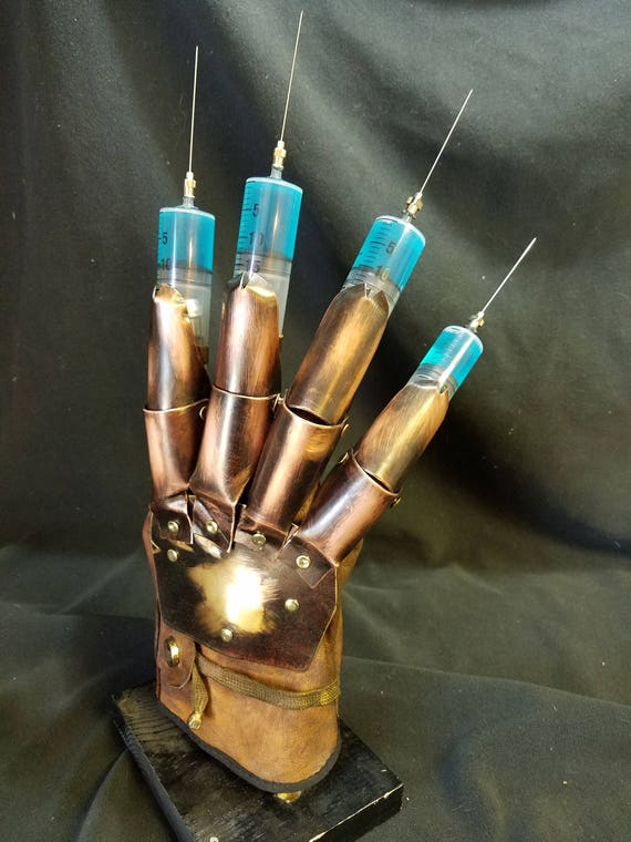 Freddy Syringe glove, Dream Warriors, A Nightmare On Elm Street 3 prop  replica