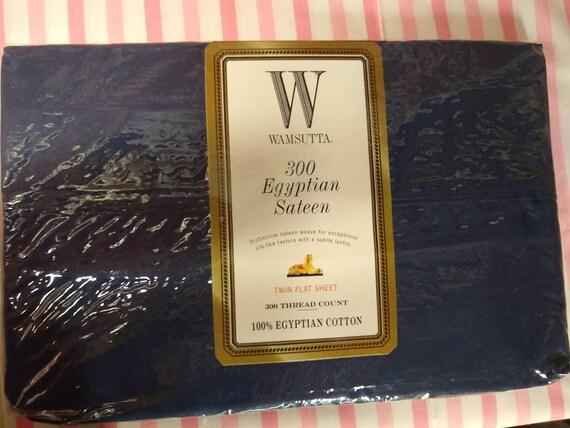 Wamsutta 300 Egyptian Sateen Twin Flat Sheet in Purple  NEW