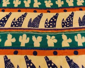 Pat Meyers reversible Crown crafts soft acrylic blanket, desert themed
