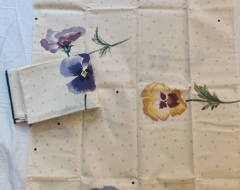 Martex standard size pillowcase pair, NOS New Old Stock, Pansy Dot pattern