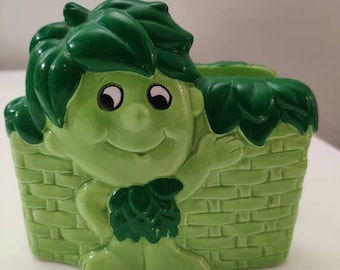Jolly Green Giant Sprout ceramic napkin holder