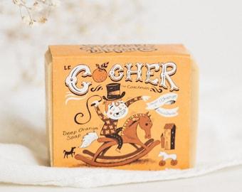 THE COACHMAN. 100% NATURAL Delightful Orange Soap. Handcrafted Soap. Natural Soap Bar, Exfoliating Soap, Zero Waste Soap, Orange, Patchouli