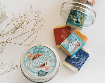 SAMPLE SIZE SOAPS Medley Jar - Natural, Colorful Soaps, Mini Soaps Assortment, Handcrafted Soaps, Mason Jar, Zero Waste Gift, Best-Seller