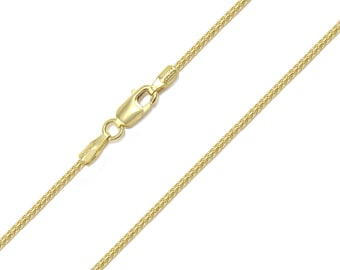 "10K Solid Yellow Gold Franco Necklace Chain 1.0mm 16-30"" - Link"