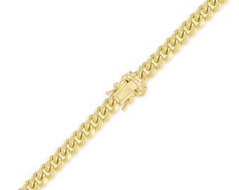 "10K Yellow Gold Hollow Miami Cuban Bracelet 9.5mm 8-9"" - Curb Chain Link"