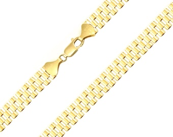 "10K Solid Yellow Gold Rolex Necklace Chain 8.0mm 18-30"" - Watch Band Link"