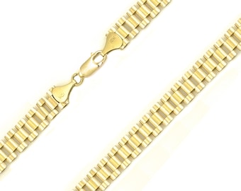 "10K Solid Yellow Gold Rolex Necklace Chain 12.0mm 22-30"" - Band Link"
