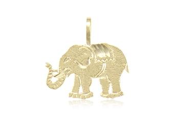 14K Yellow Gold Elephant Stud Post Earrings MSRP $172