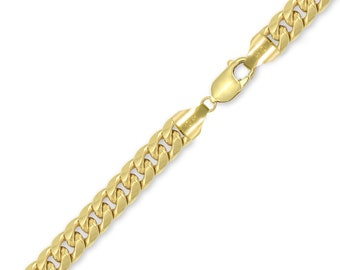 "10K Yellow Gold Hollow Miami Cuban Bracelet 11.0mm 8-9"" - Curb Chain Link"