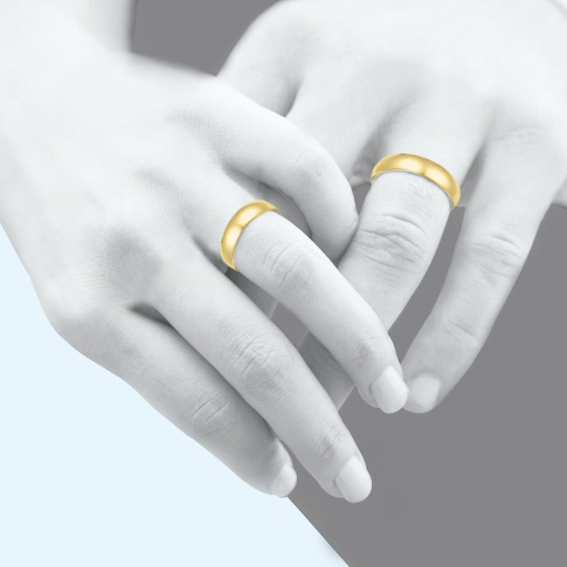 Polished 10K Solid Yellow Gold Regular Fit Plain Wedding Band Ring 3.0mm Size 5-13