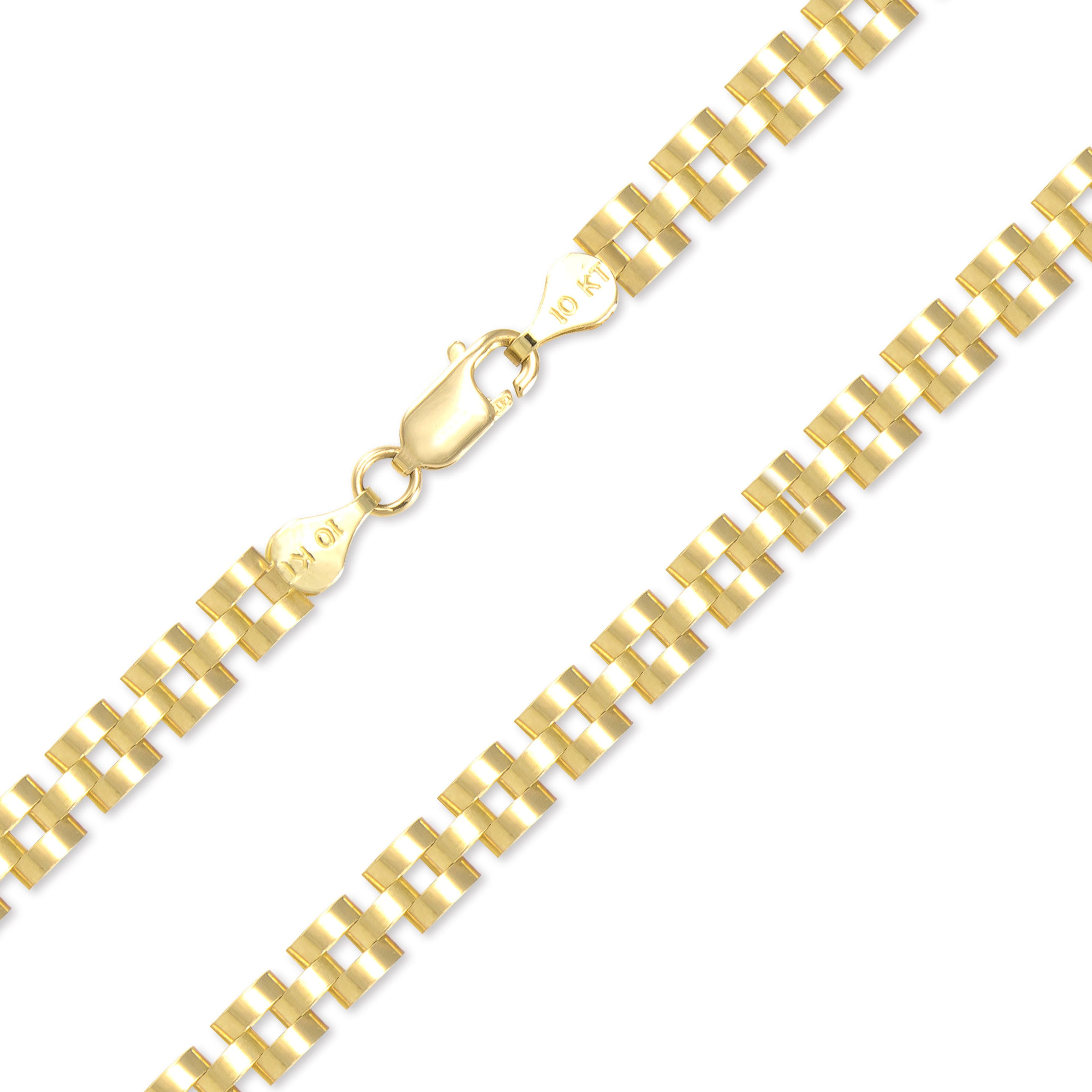9037fa57fb0f2 10K Solid Yellow Gold Rolex Necklace Chain 6.0mm 18-30 - Watch Band Link
