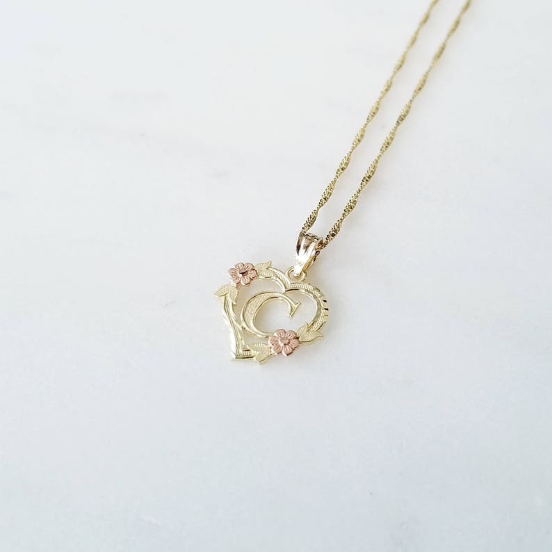 Details about  /10K Yellow Gold Initial Letter S Pendant AP1073670