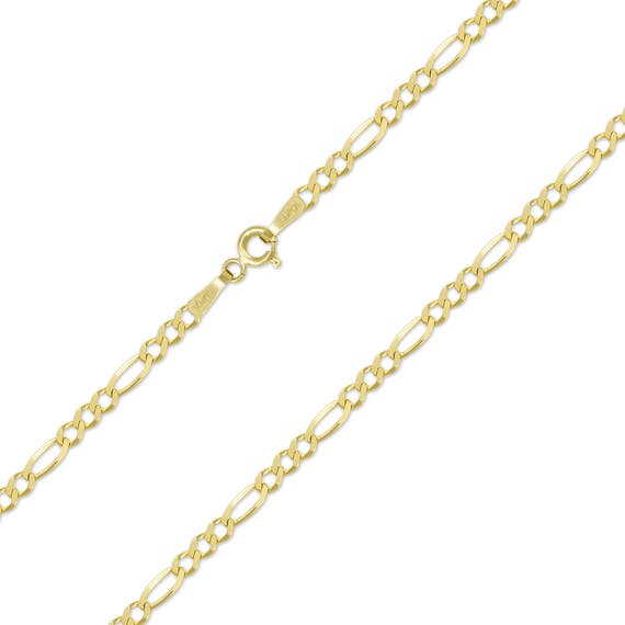 Link Women 14K Solid Yellow White Rose Gold Figaro Necklace Chain 3.0mm 16-26/""
