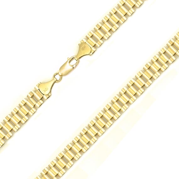 8fe0f05181feb 10K Solid Yellow Gold Rolex Necklace Chain 10.0mm 20-30