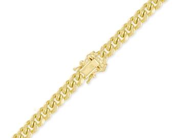 "10K Yellow Gold Hollow Miami Cuban Bracelet 11.0mm 8-9"" - Curb Chain Link"