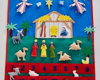 Nativity Felt Advent Calendar/Kids Advent Calendar