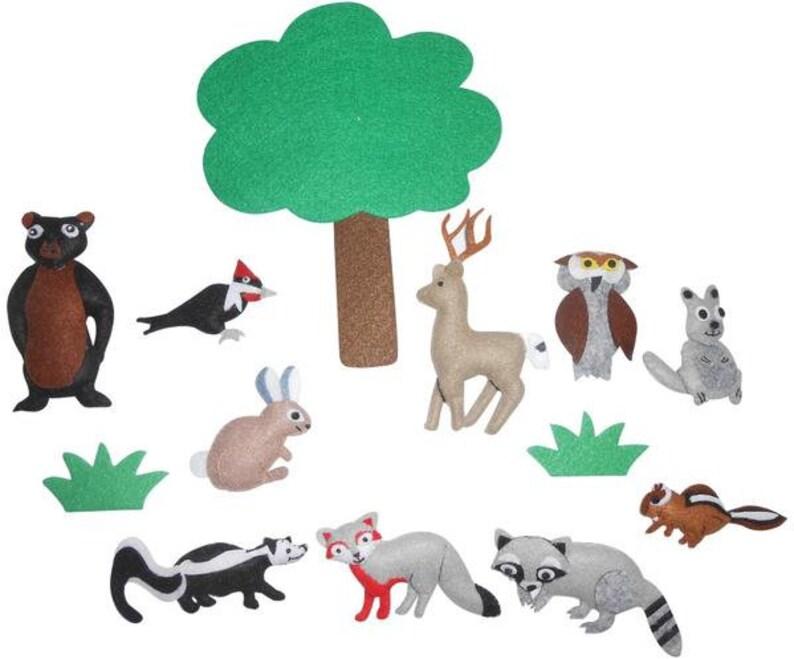 Woodland Animals Felt Set/Activity Set/Sensory Toy/Speech Therapy/Eco  Friendly/Ready To Ship