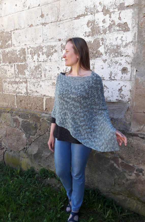 Poncho women summer poncho crochet poncho gray cover up boho chic style summer dress cover light sweater poncho women clothing beach cover