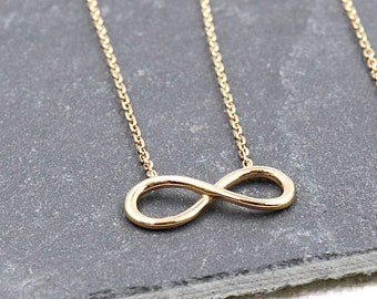 gold plated infinity necklace for women