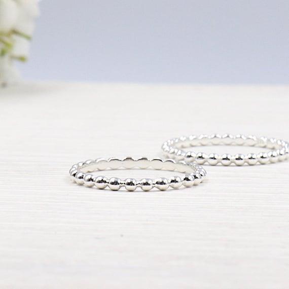 Silver ring 925 balls