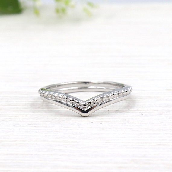 silver ring 925 v-neck for women