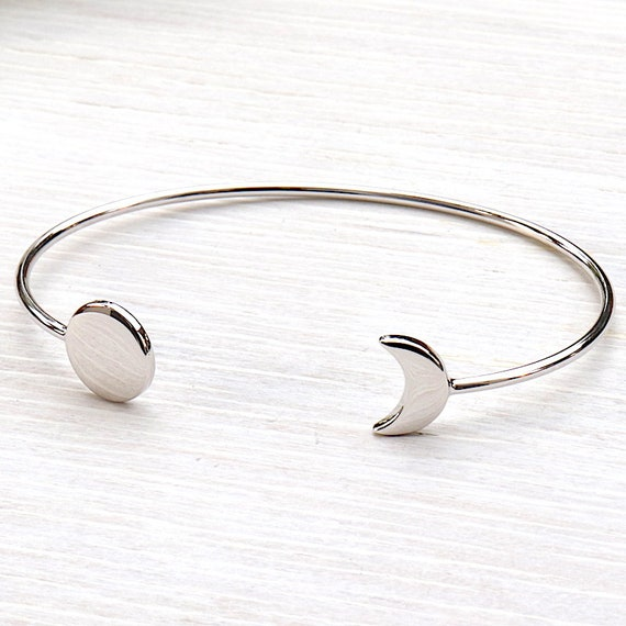 Bangle Crescent Moon Silver 925