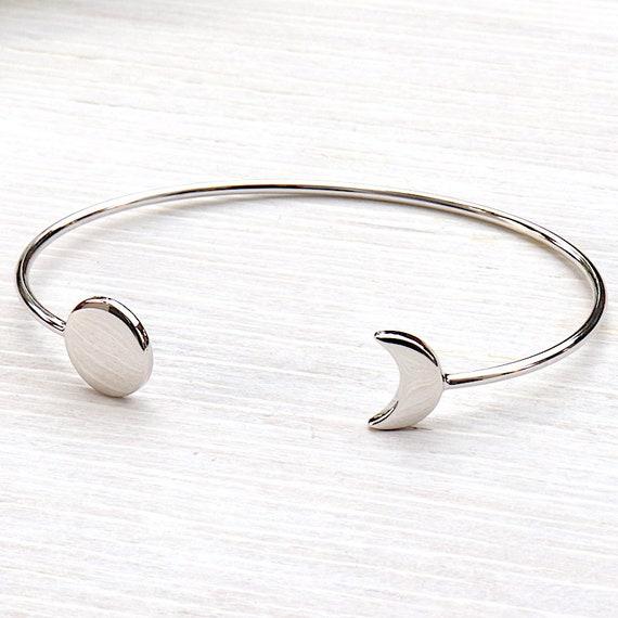 Bangle Crescent Moon Silver 925