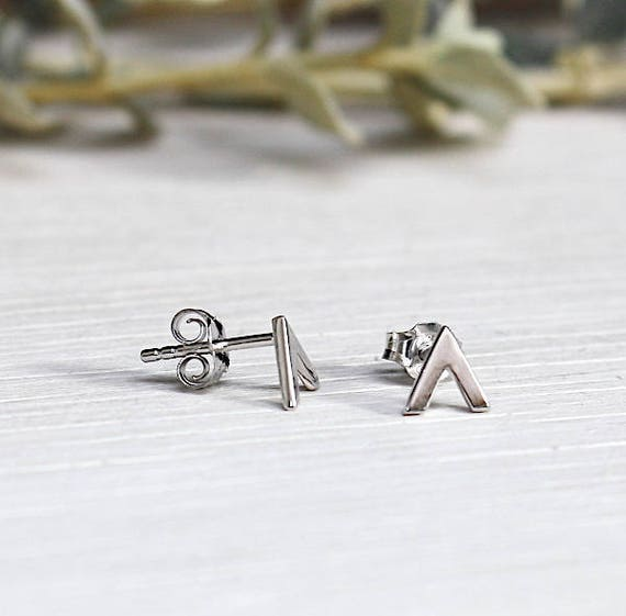 Silver earrings 925 open triangle