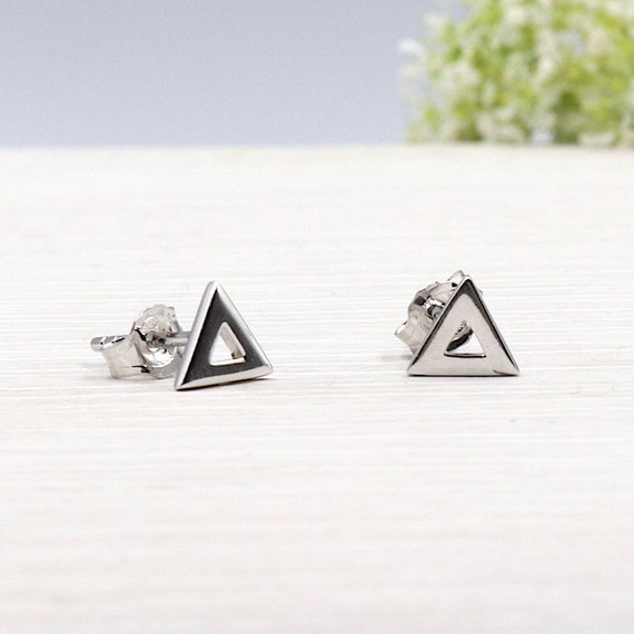 For women 925 sterling silver triangle earrings