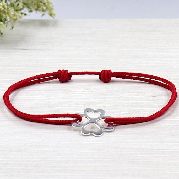 925 trefle cord bracelet
