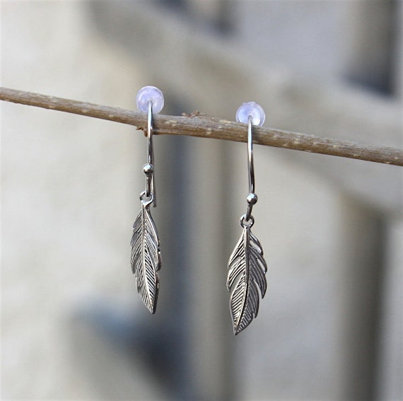 Feather earrings Silver 925