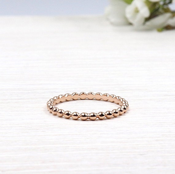 ring balls plated rose gold 750/1000 3 microns