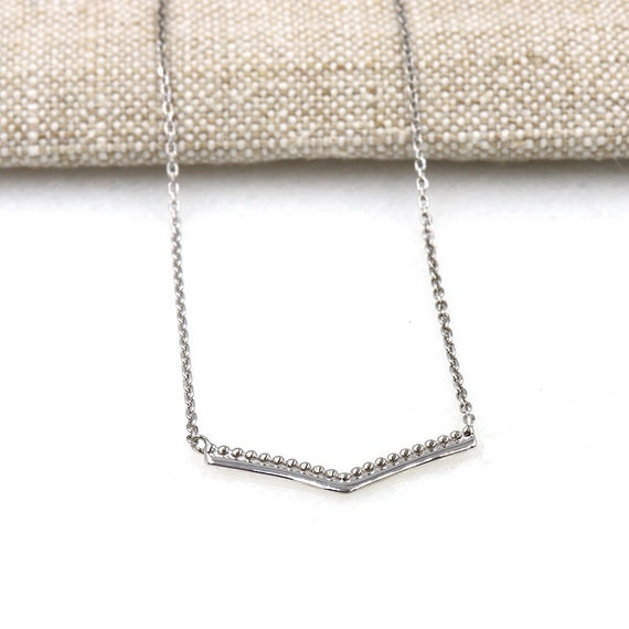 woman's collar form V silver 925