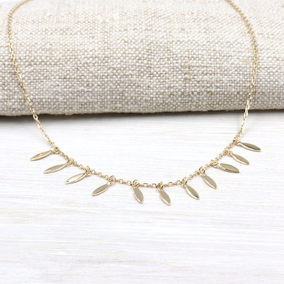 petals necklace plated gold for women