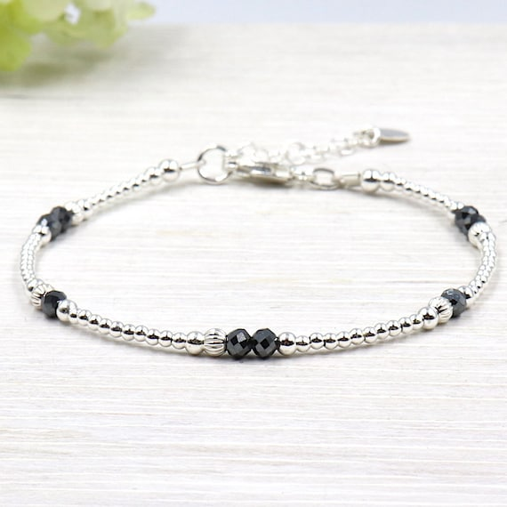 Women bracelet 925 Silver beads and hematite