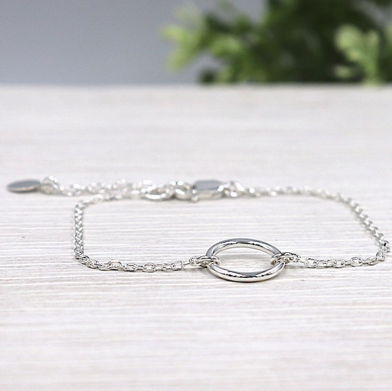 women bracelet ring combined with a silver chain 925