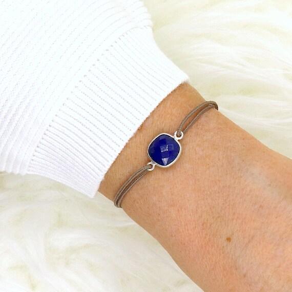 stone bracelet lapis lazuli set silver 925 for women