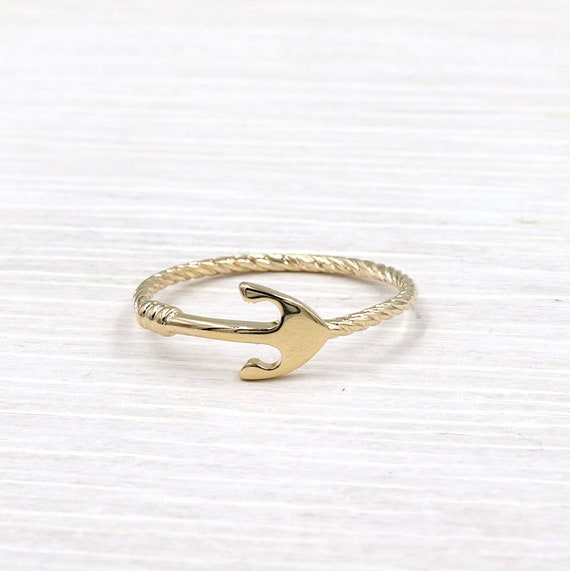 gold gold gold gold ring anchor edin for women