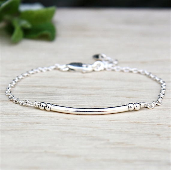 bracelet and silver beads on silver chain 925