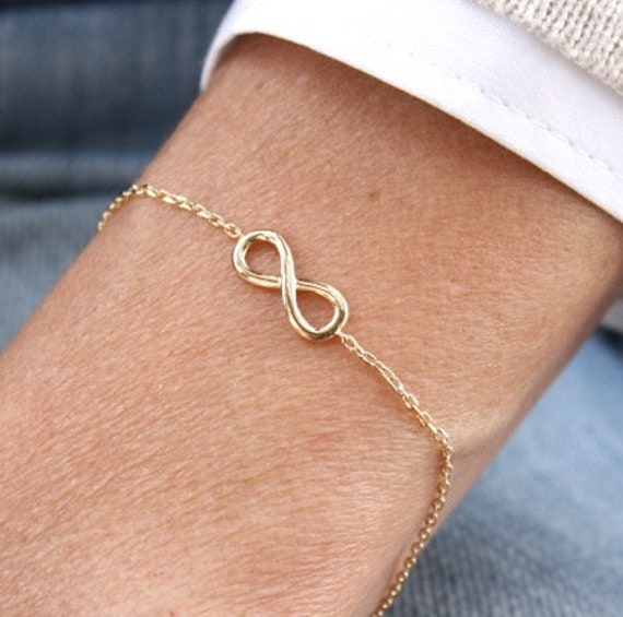 infinite woman bracelet plated gold on chain