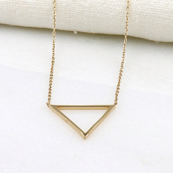 gold plated triangle earrings for women