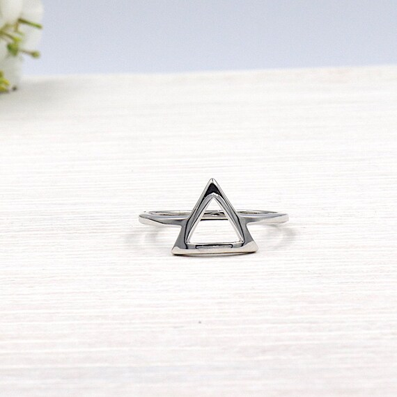 Women's 925 Silver Triangle Ring