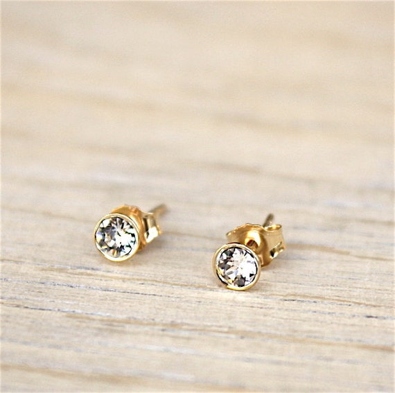 cubic zirconia set gold plated 750 thousandth earrings 18 k