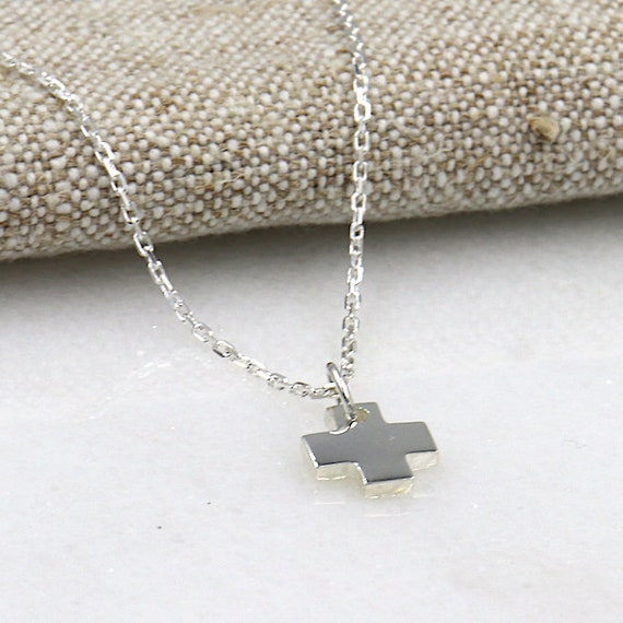 925 silver cross necklace for women